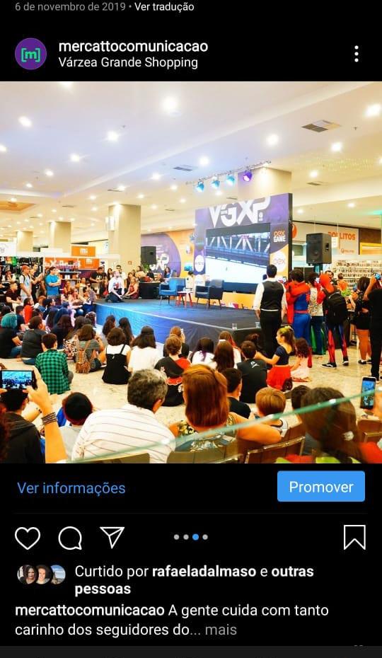 Interações Mídias Sociais Várzea Grande Shopping