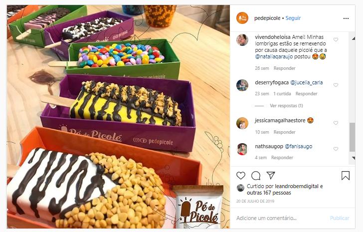 Pé de Picolé - Posts Rede Social